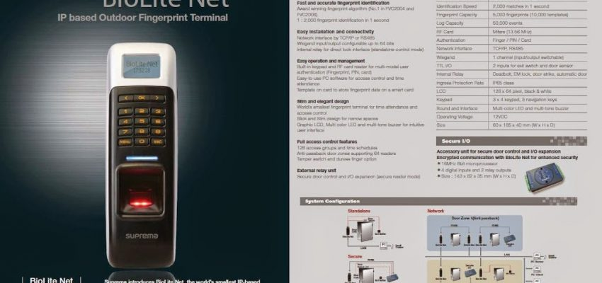 Supplier  fingerprint Suprema Biolite Net  telp : 021-7873562 081316770888