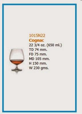 Gelas Ocean Jenis cognac untuk wine
