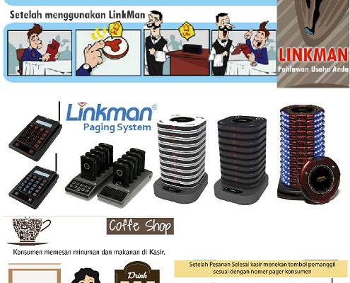 Distributor  Alat Bantu panggil waiter Linkman- Hayes Indonesia PT Telp:021-7873562 Hp:081316770888