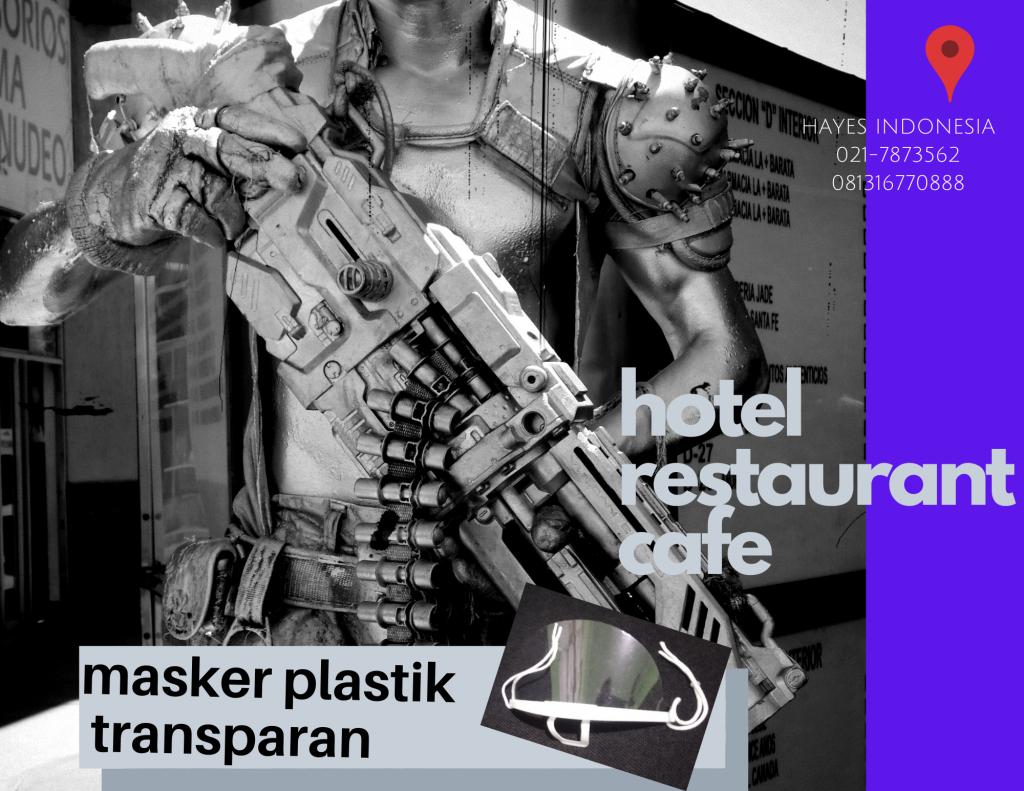 Masker Plastik Transparan