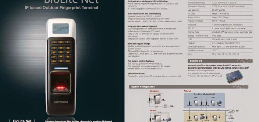 Supplier  fingerprint Suprema Biolite Net  telp : 021-7873562 081316770888